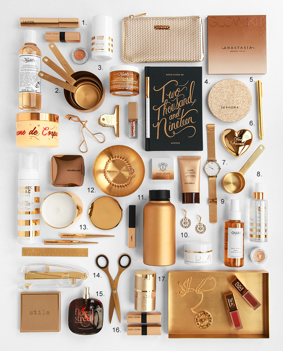 Christmas Gift Guide - Design By Aikonik - gold