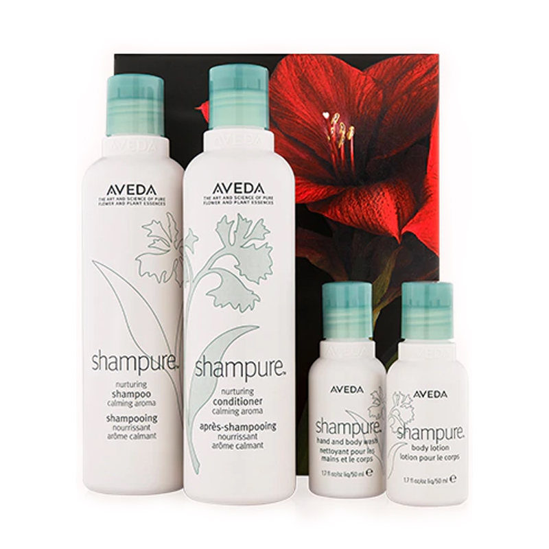 aveda shampure - design by aikonik
